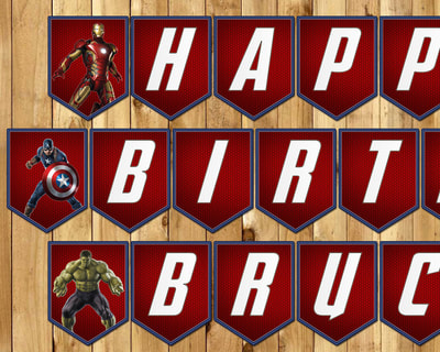 Avengers Inspired Birthday Banner