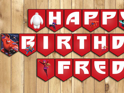 Big Hero 6 Inspired Birthday Banner instant download