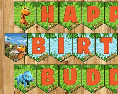 Dinosaur Train Inspired Birthday Banner The Dinosaur Train Birthday Banner Dinosaur Train Banner Dinosaur Train Instant Download Printable